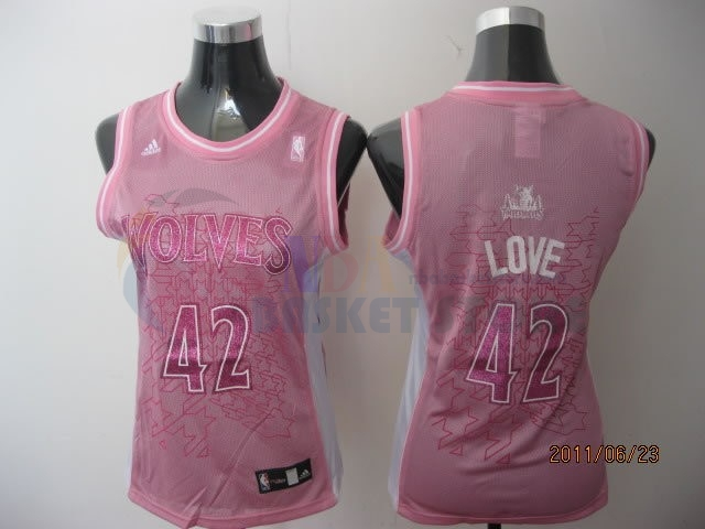 Maillot NBA Femme Minnesota Timberwolves NO.42 Kevin Love Rose
