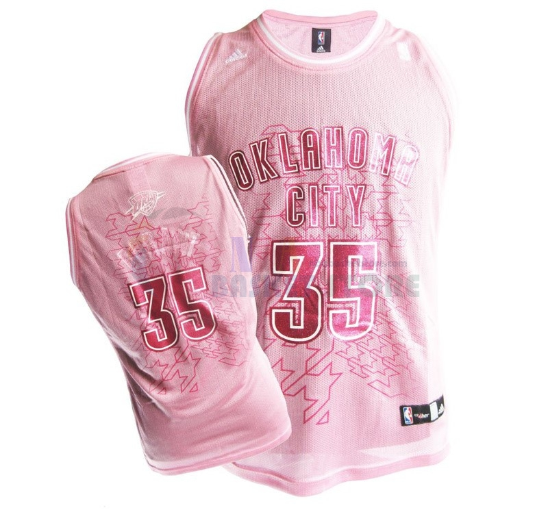 Maillot NBA Femme Oklahoma City Thunder NO.35 Kevin Durant Rose