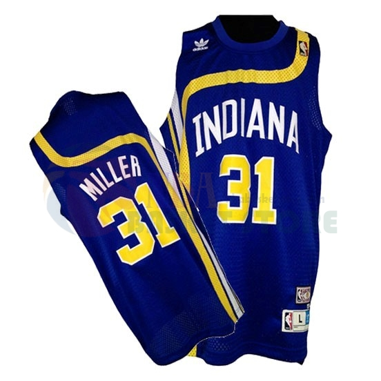 Maillo ABA Indiana Pacers NO.31 Miller Bleu