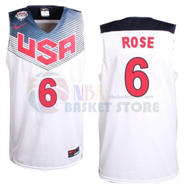 Maillot 2014 USA NO.6 Rose Blanc