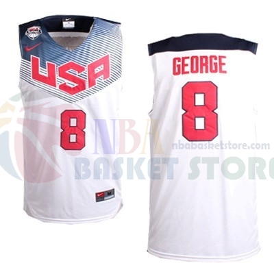 Maillot 2014 USA NO.8 George Blanc