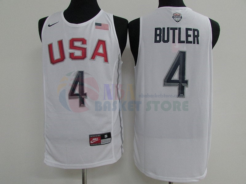 Maillot 2016 USA NO.4 Jimmy Butler Blanc