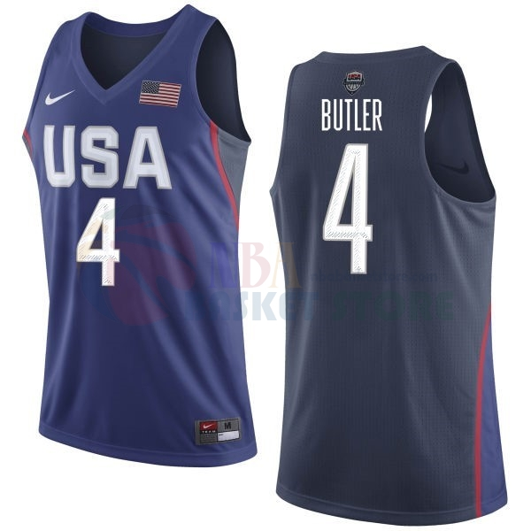 Maillot 2016 USA NO.4 Jimmy Butler Bleu