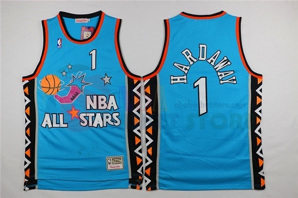 Maillot NBA 1996 All Star NO.1 Anfernee Hardaway Bleu