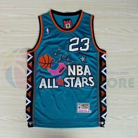 Maillot NBA 1996 All Star NO.23 Michael Jordan Bleu