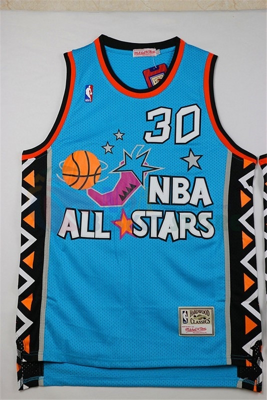 Maillot NBA 1996 All Star NO.30 Scottie Pippen Bleu