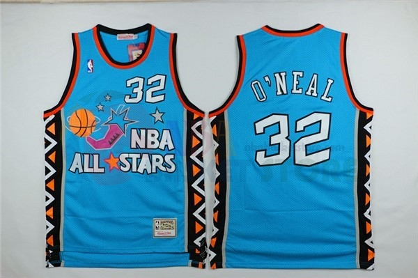 Maillot NBA 1996 All Star NO.32 Shaquille O'Neal Bleu