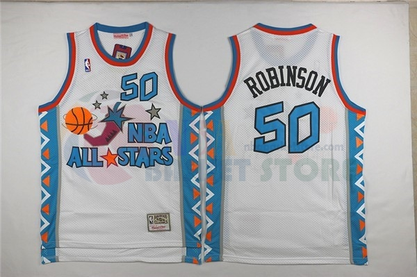 Maillot NBA 1996 All Star NO.50 David Robinson Blanc