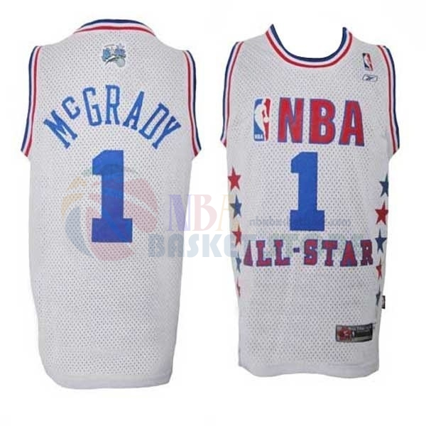 Maillot NBA 2003 All Star NO.1 Tracy McGrady Blanc