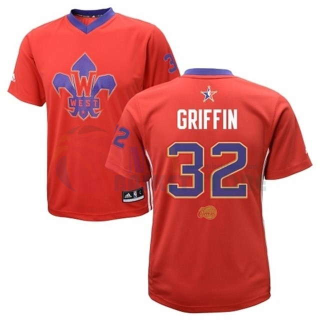 Maillot NBA 2014 All Star NO.32 Blake Griffin Rouge