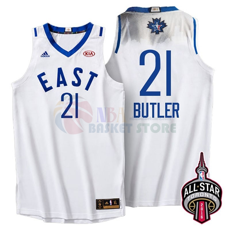 Maillot NBA 2016 All Star NO.21 Jimmy Butler Blanc