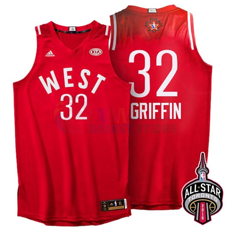 Maillot NBA 2016 All Star NO.32 Blake Griffin Rouge