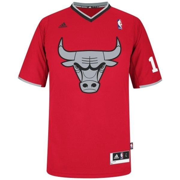 Maillot NBA Chicago Bulls 2013 Noël NO.1 Rose Rouge