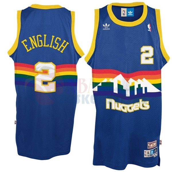 Maillot NBA Denver Nuggets NO.2 Alex English Bleu