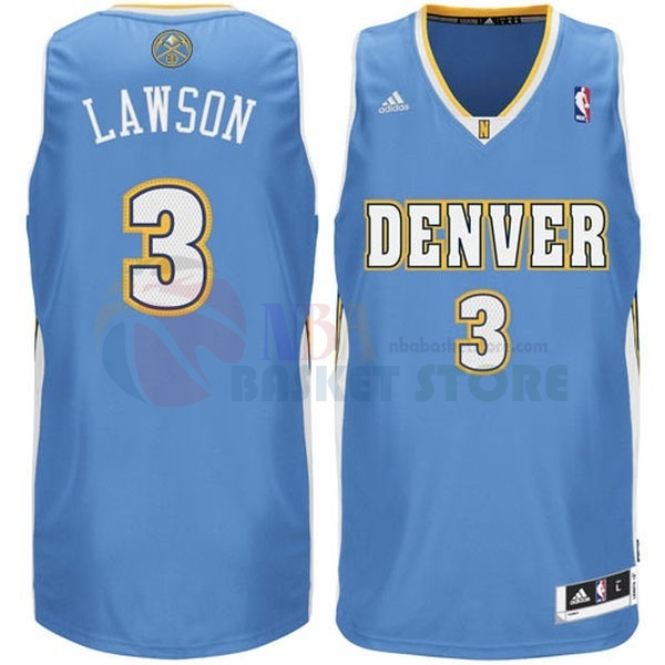 Maillot NBA Denver Nuggets NO.3 Allen Iverson Bleu
