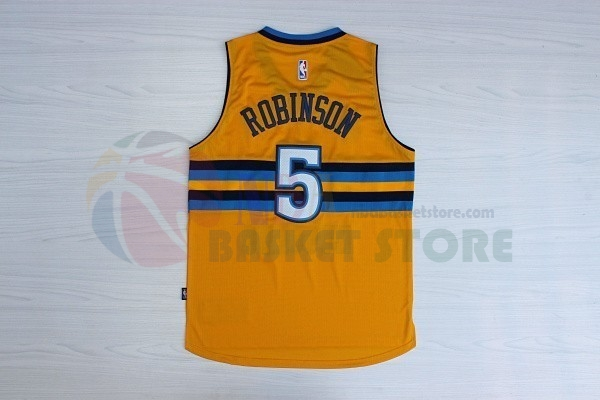 Maillot NBA Denver Nuggets NO.5 Nate Robinson Jaune