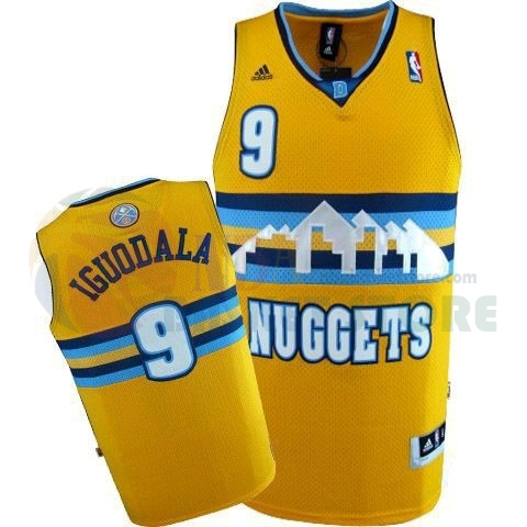 Maillot NBA Denver Nuggets NO.9 Andre Iguodala Jaune
