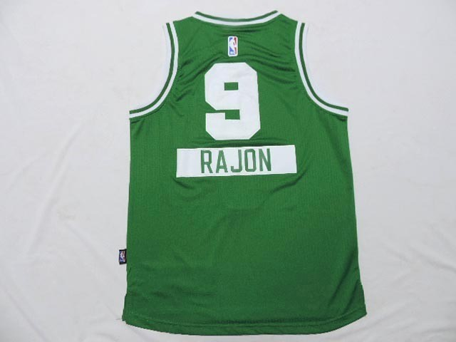 Maillot NBA Enfant 2014 Noël Boston Celtics NO.9 Rajon Vert