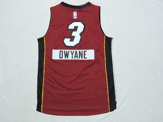 Maillot NBA Enfant 2014 Noël Miami Heat NO.3 Dwyane Rouge