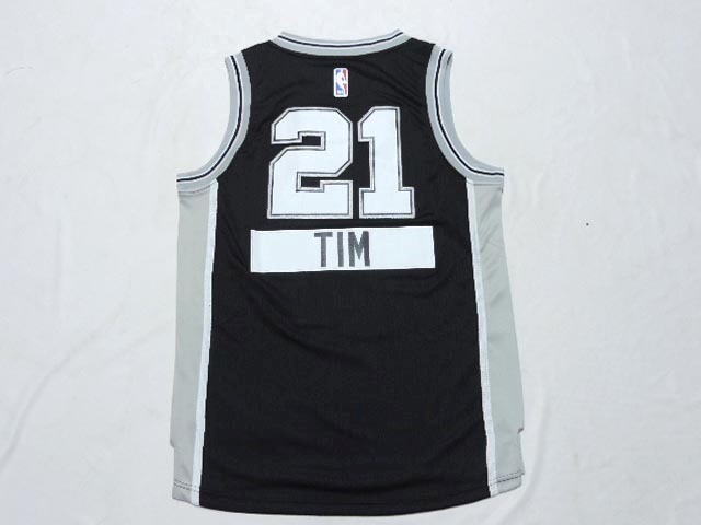 Maillot NBA Enfant 2014 Noël San Antonio Spurs NO.21 Tim Noir
