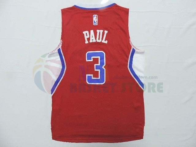Maillot NBA Enfant Los Angeles Clippers NO.3 Chris Paul Rouge