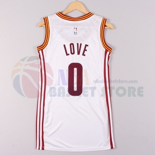 Maillot NBA Femme Cleveland Cavaliers NO.0 Kevin Love Blanc