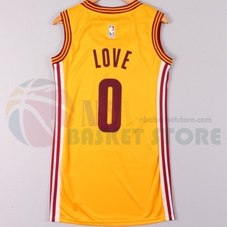 Maillot NBA Femme Cleveland Cavaliers NO.0 Kevin Love Jaune