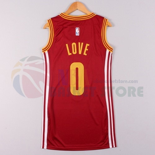Maillot NBA Femme Cleveland Cavaliers NO.0 Kevin Love Rouge