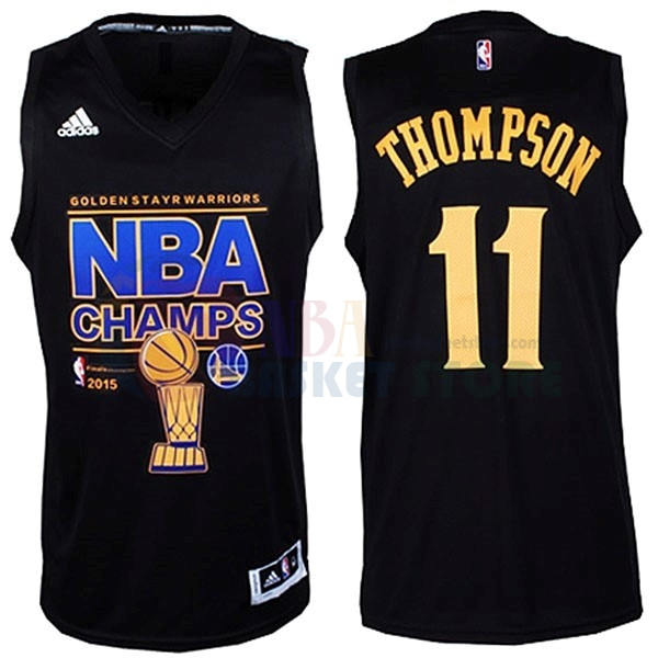 Maillot NBA Golden State Warriors NBA Finales NO.11 Thompson Noir