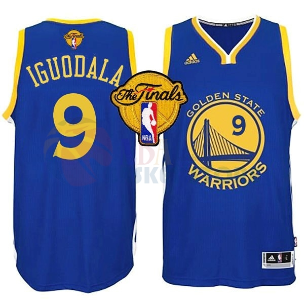 Maillot NBA Golden State Warriors NBA Finales NO.9 Iguodala Bleu