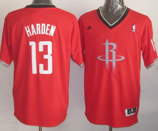 Maillot NBA Houston Rockets 2013 Noël NO.13 Harden Rouge