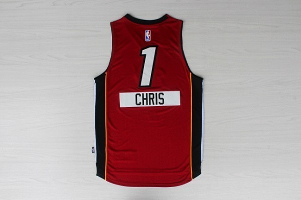 Maillot NBA Miami Heat 2014 Noël NO.1 Chris Rouge
