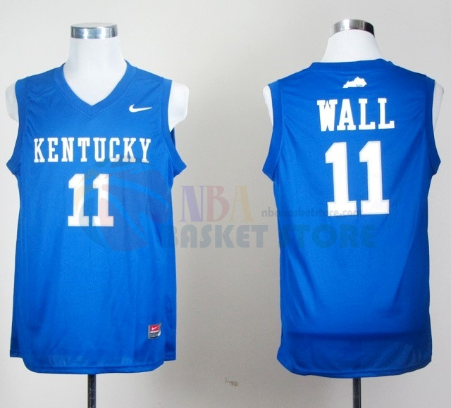 Maillot NCAA Kentucky NO.11 John Wall Bleu
