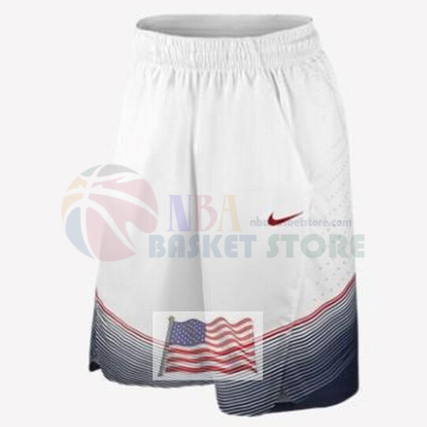 Pantalon Basket 2014 USA Blanc