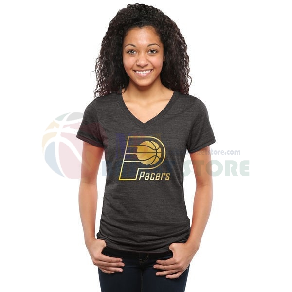 T-Shirt Femme NBA Indiana Pacers Noir Or